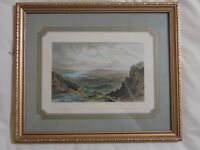 Antique Lake District colour print