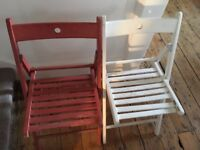 IKEA TERJE Folding chair white and red