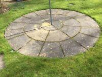 Circular patio slabs 8ft