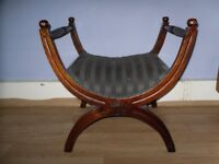 Antique Wooden Curve Stool Edwardian very rare MUST SEE