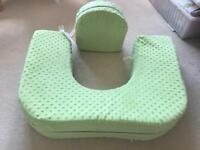 Feeding pillow designed for twins