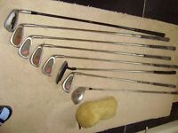 Golf clubs with carrier bag