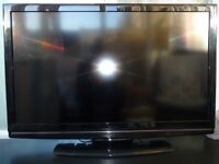 """Hitachi L4204U 42"""" Black Television with remote in excellent condition with optional glass stand"""