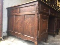 Antique French double sided partner desk
