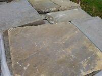 Original Reclaimed Ironbridge Salvage York Stone Paving Slabs | Flags Weathered