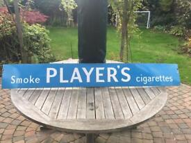 "Metal sign / vintage / original ""player's Cigarettes"""