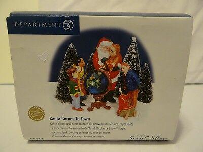 Dept 56 Snow Village Santa Comes To Town 56-55015 Globe Spins St Nick Children