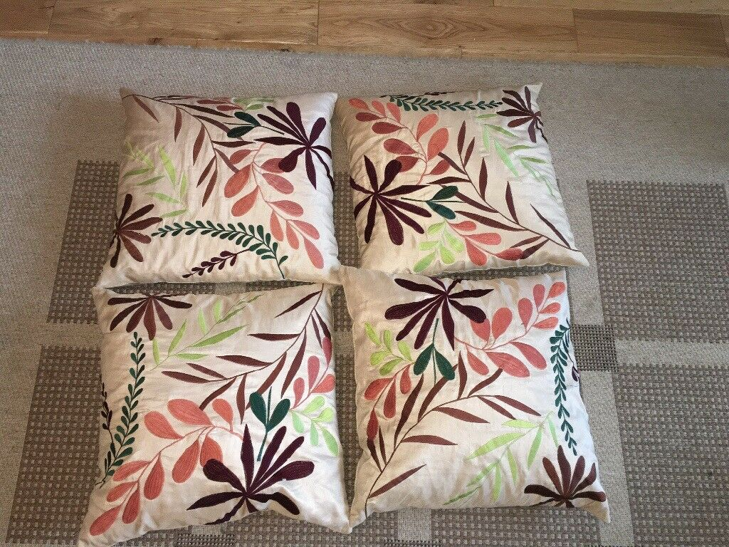 4 down filled cushions