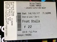 Richard Thompson Ticket - Colston Hall Saturday 14th October 2017