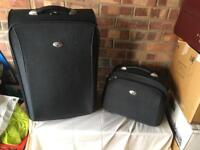 Pair of antler luggage set small case and matching bag