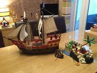 Playmobil Pirate Ship and Pirate Island
