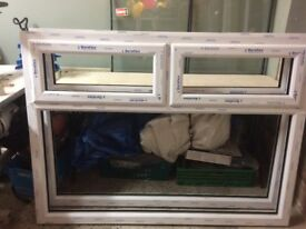 UPVC Window Units in White with planitherm glass - New and unused