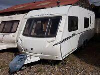 2008 Abbey Vogue 600 6 Berth Fixed Bunks End Washroom Twin Axle Caravan, Motor Mover