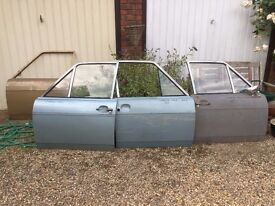 4x Mk2 SERIES 1 Ford Cortina doors. 1967-72 some with glass, handles etc