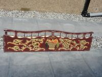 GYPSY WAGGON BACKBOARD, LINING AND SCROLLING BY TOM STEPHENSON, 5 FT LONG