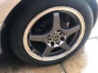"""4x100 multi fit 15"""" wheels mx5 civic"""
