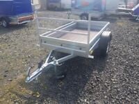 BRAND NEW 6X4 SINGLE AXLE WELDED TRAILER WITH A LADDER RACK 750KG