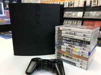 PS3. Playstation 3.console & 12 Games Bundle. 150GB HDD, BLU-RAY. Wireless Controller. great deal