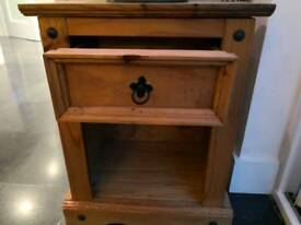 Mexican pine bedside table