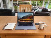 "MacBook Pro 15 Inch"" Quad Core i7 2.6GHz 16GB RAM 256GB Space Grey Touch Bar"