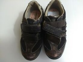 girls, geox,italian shoes/sandals, brown, new, size 8