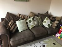 3 seater sofa, corner unit available needs to be collected