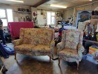 Queene Anne sofa plus chair