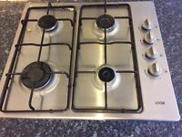 Gas Hob - LOGIK - Stainless Steel. New from February. Hardly used.