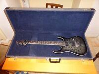 Ibanez RGA72TQM electric guitar, with hard case