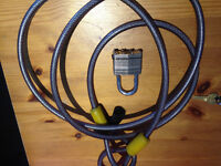 OnGuard Long Cable Bike Lock with Keys