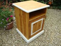 Solid Pine Bedside Cabinet,With Loching Cupboard(one key).