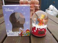 rare disney musical winnie the pooh christmas snowglobe