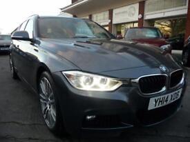 BMW 3 SERIES 2.0 320D XDRIVE M SPORT TOURING 5d AUTO 181 BHP (grey) 2014