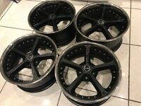"BMW 20"" AC Schnitzer Type IV Racing Magic Black Alloy Wheels VW Vauxhall 5x120"
