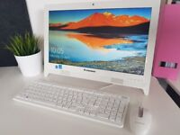 Lenovo C260 All-in-one 19.5 inch screen Intel Celeron 4GB 500GB HDD White