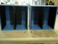 2 x Blue Media Holders. Wall Mount or Free Standing