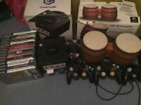 GameCube boxed with 15 games plus 4x controllers