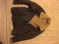 Real sheepskin coat