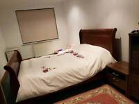 Solid wood king size bed and mattress