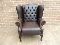 Chesterfield Queen Anne Armchair (UK Delivery)