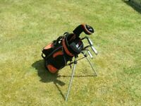 Set Of Junior Golf clubs For Sale. With Carry bag and Stand