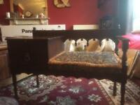 Vintage retro genuine Chippy telephone table and seat