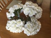 4 x Ivory rose bouquets