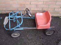 old pedal kart go kart