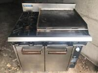 Blue seal industrial oven & hob