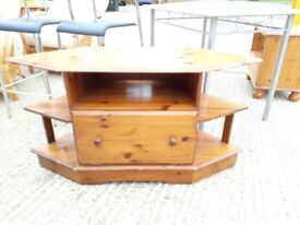 TV cabinet - wood pine stand unit display