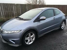 2007 HONDA CIVIC TYPE S DIESEL,1 YEARS MOT,£2195