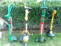 4 electric grass strimmers