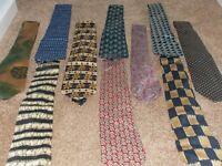 10 assorted men's ties