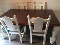 Solid table and 4 chairs perfect for upcycle project
